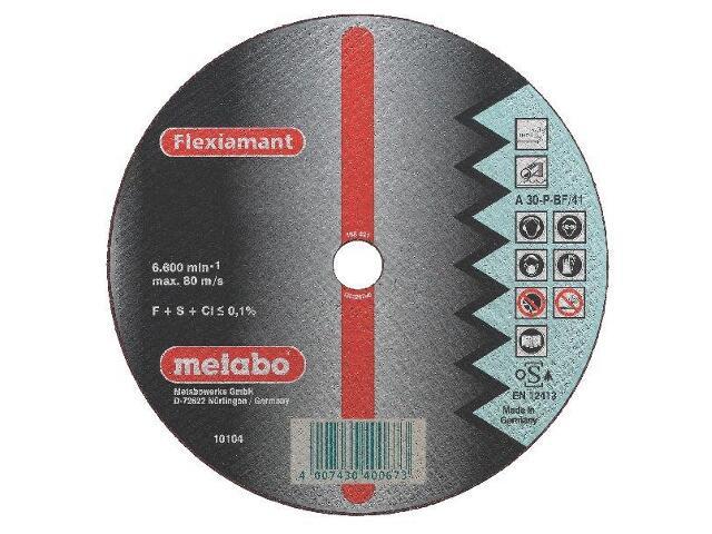 Tarcza tnąca Flexiamant A 30-P 230x3x22,2mm do stali nierdz. Metabo