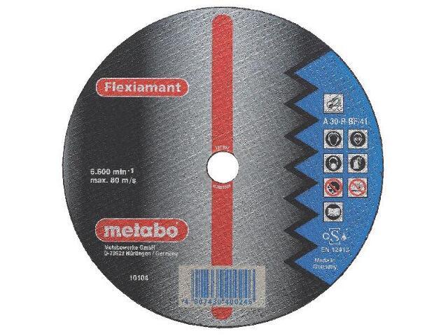 Tarcza tnąca Flexiamant A 30-R 125x2,5x22,2mm do stali (wypukła) Metabo