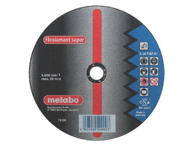 Tarcza tnąca Flexiamant super A 36-T 230x2,5x22,2mm do stali (wypukła) Metabo