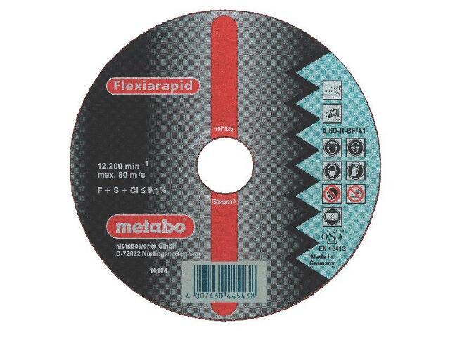 Tarcza tnąca Flexiarapid A 46-R 115x1,6x22,2mm do stali nierdz. Metabo