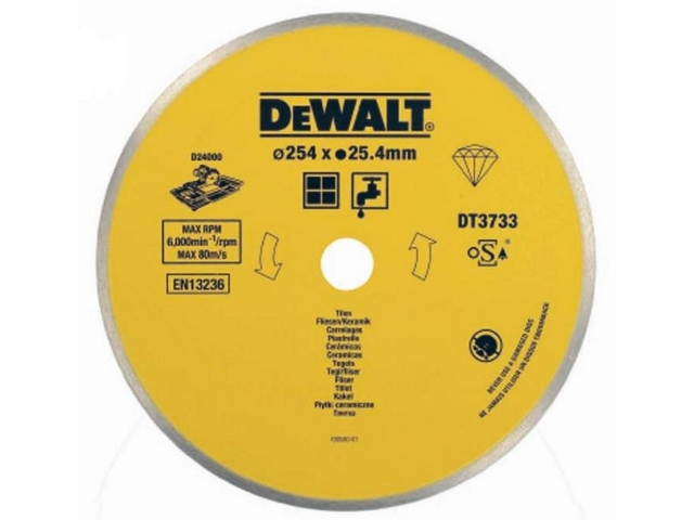 Tarcza tnąca do ceramiki 250mm DeWALT
