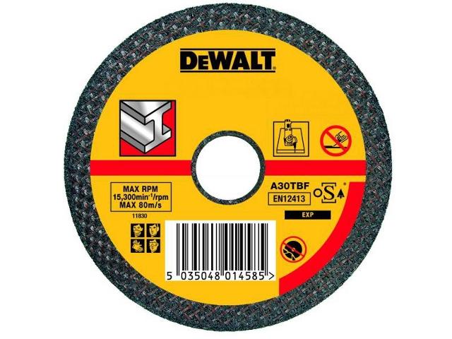 Tarcza tnąca do metalu 125x1,6mm DeWALT