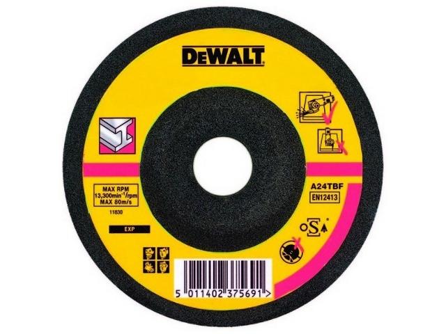 Tarcza tnąca do metalu 115x2,5mm wygięta DeWALT