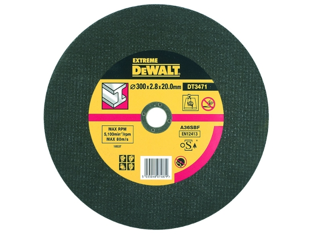Tarcza tnąca do metalu 300x20mm DeWALT