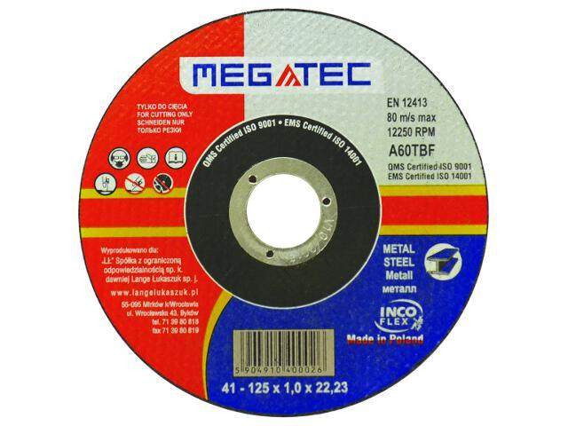 Tarcza tnąca D125x22x1mm Megatec