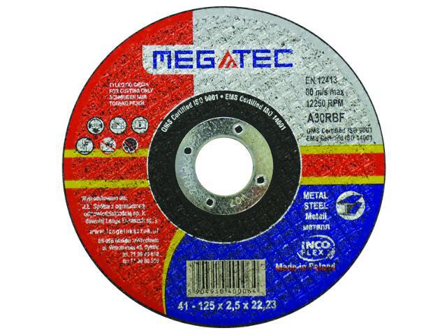 Tarcza tnąca D125x22x2,5mm Megatec