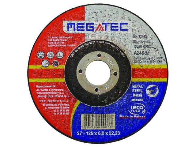 Tarcza tnąca D125x22x6mm Megatec