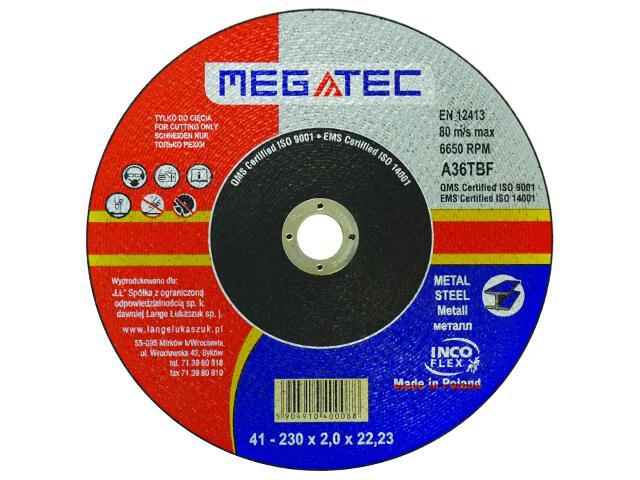 Tarcza tnąca 230x22x2mm Megatec