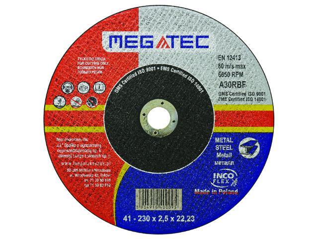 Tarcza tnąca 230x22x2,5mm Megatec