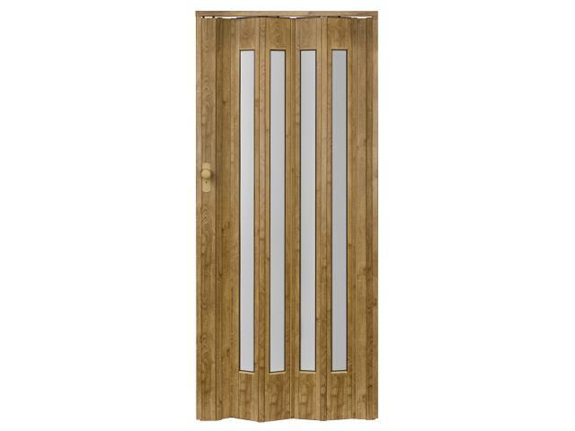 Drzwi harmonijkowe ST12 jasny dąb 88cm Standom