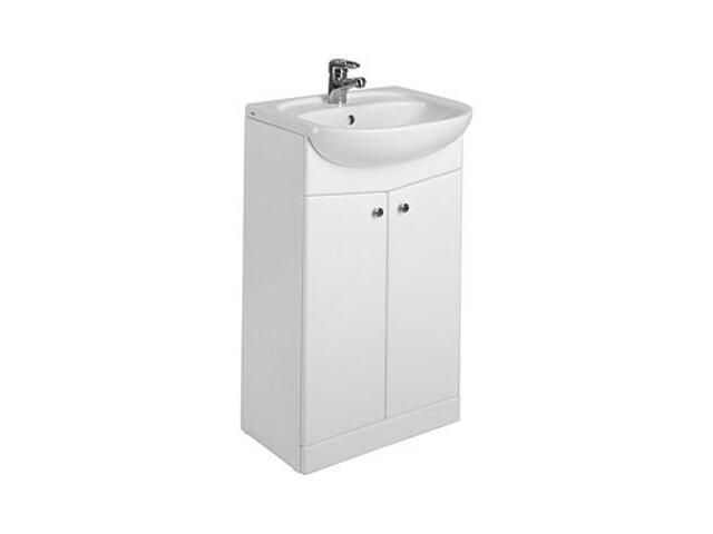 Szafka z umywalką w zestawie NOVA umywalka meblowa 50cm + szafka biały połysk 29209000 Koło