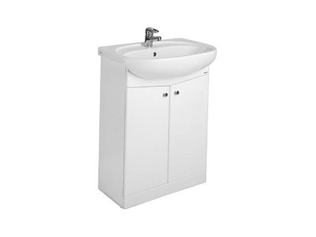 Szafka z umywalką w zestawie NOVA umywalka meblowa 55cm + szafka biały połysk 29210000 Koło