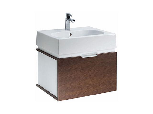 Szafka z umywalką w zestawie TWINS 50 L59027000 biała / dąb arava Koło