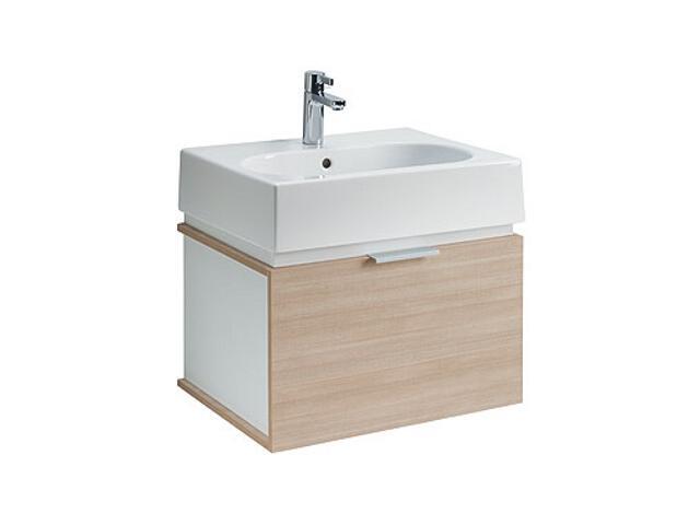Szafka z umywalką w zestawie TWINS 60 L59031000 biała / dąb arava Koło