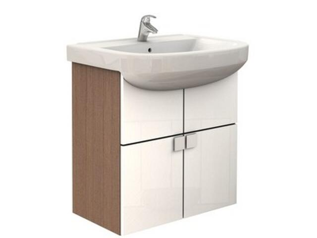 Zestaw umywalka PRIMO 65cm z szafką PRIMO 59,8cm biała 16005142 Koło