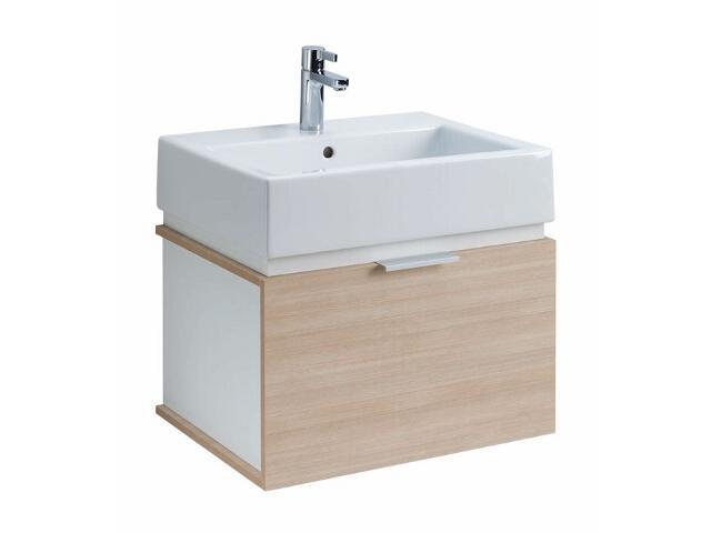 Szafka z umywalką w zestawie TWINS 50 15620072 biała / dąb arava Koło
