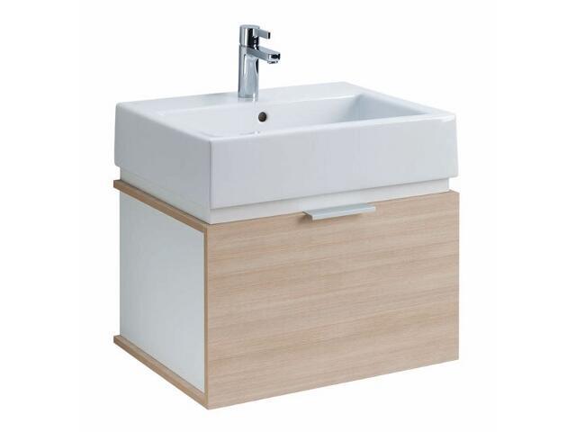 Szafka z umywalką w zestawie TWINS 50 15620080 biała / dąb arava Koło