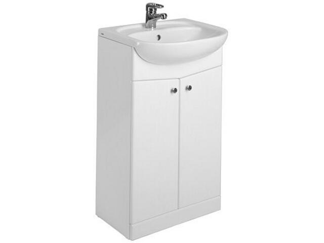 Zestaw umywalka NOVA 55x45cm z szafką stojącą NOVA biała 15820020 Koło