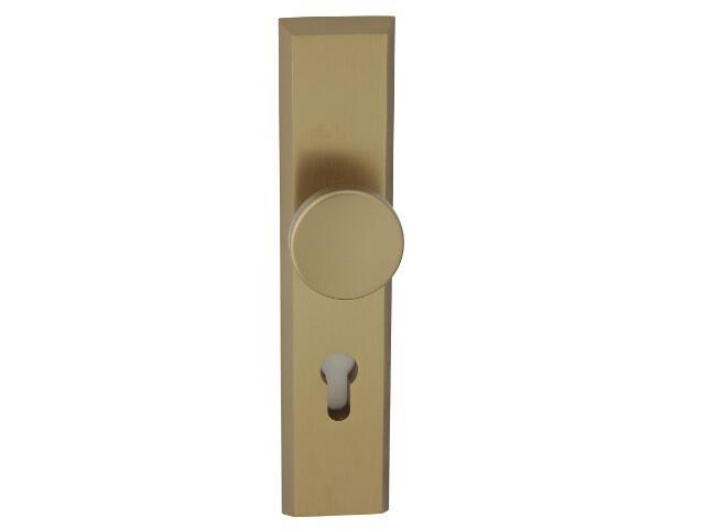 Klamka drzwiowa zewn. z gałką RONDO szyld długi wkładka 92mm brąz mat Dieckmann