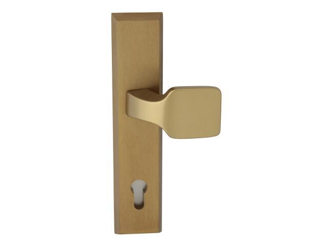 Klamka drzwiowa zewn. z pochwytem RONDO szyld długi wkładka 72mm brąz mat Dieckmann