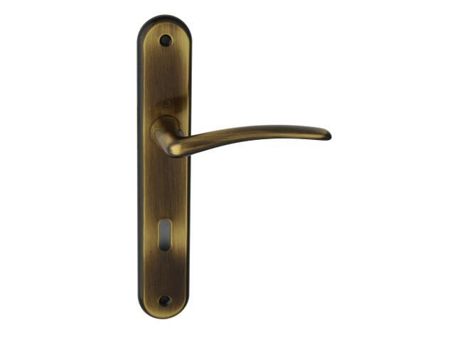 Klamka drzwiowa Istambuł szyld długi klucz brąz grafiatto 90mm HOPPE