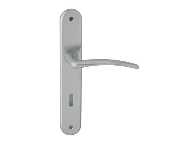 Klamka drzwiowa Istambuł szyld długi klucz chrom satyna 90mm HOPPE