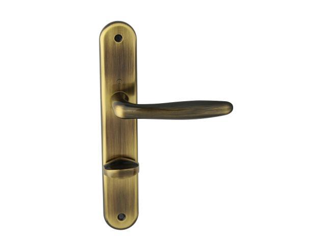 Klamka drzwiowa ROISSY szyld długi WC brąz grafiatto prawa HOPPE