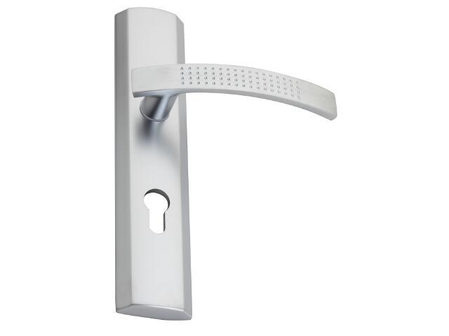Klamka drzwiowa TALIA szyld długi zewn. wkładka chrom satynowy DH-T-12Z-Y-72-08-L Gamet