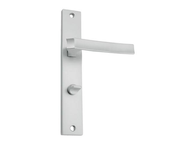 Klamka drzwiowa IMPERA szyld długi WC chrom satynowy DH-04-113WC-08-P Gamet