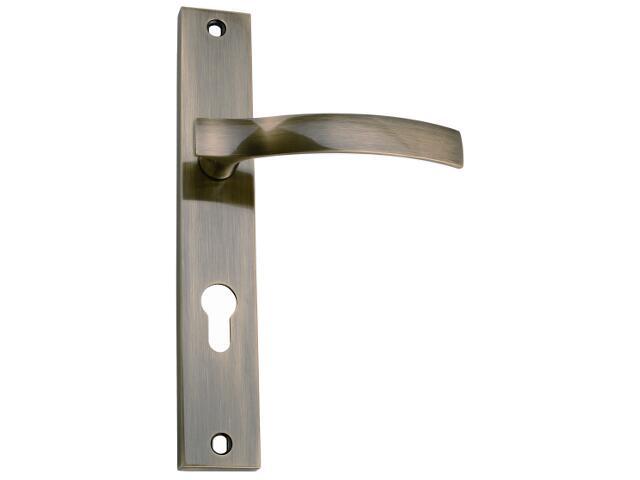Klamka drzwiowa VITALIS szyld długi wkładka mosiądz antyczny DH-03-113Y-72-AB Gamet