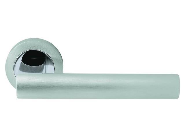 Klamka drzwiowa AIDA szyld okrągły chrom / chrom matowy VE-M01-OK-CR-CS Verdi