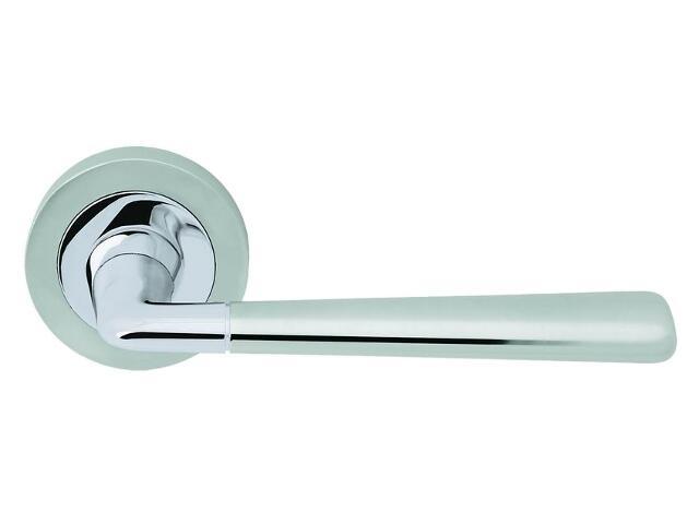 Klamka drzwiowa ERNANI szyld okrągły chrom / chrom matowy VE-M04-OK-CR-CS Verdi