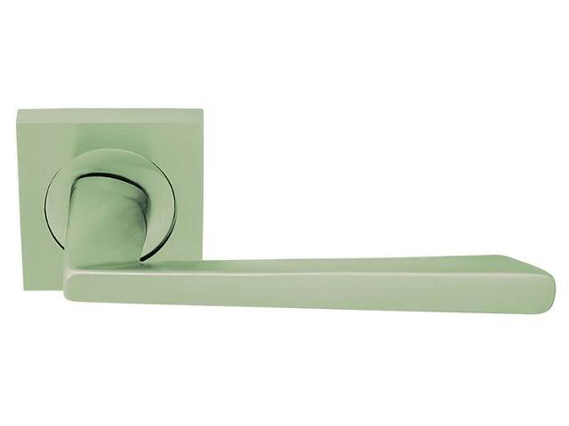Klamka drzwiowa ALZIRA szyld kwadratowy nikiel matowy VE-M05-KW-NM Verdi