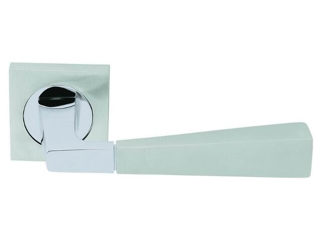 Klamka drzwiowa NABUCCO szyld kwadratowy chrom / chrom matowy VE-M06-KW-CR-CS Verdi