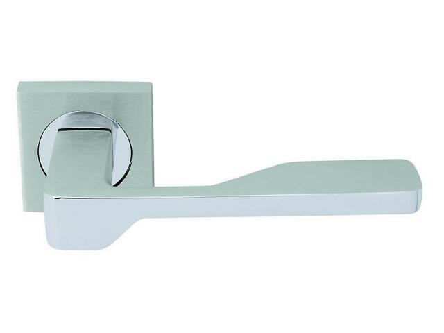 Klamka drzwiowa JOANNA D'ARC szyld kwadratowy chrom / chrom matowy VE-M10-KW-CR-CS Verdi