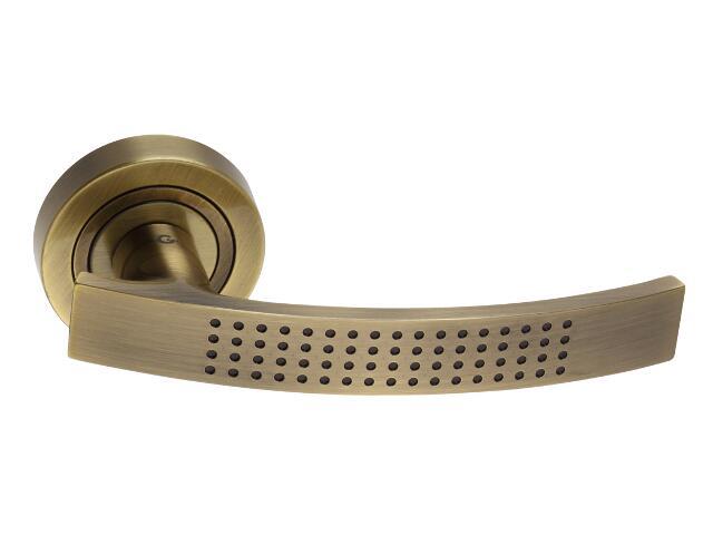 Klamka drzwiowa TALIA szyld dzielony mosiądz antyczny DH-T-22-AB Gamet
