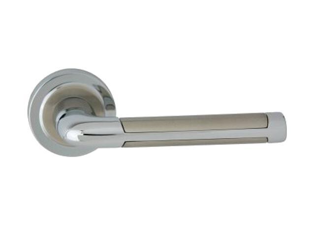 Klamka drzwiowa XENIA-R szyld dzielony okrągły chrom lakierowany/nikiel lakierowany ROSSETTI