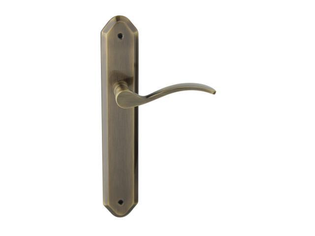 Klamka drzwiowa HERA szyld długi bez otworu brąz grafiatto Domino