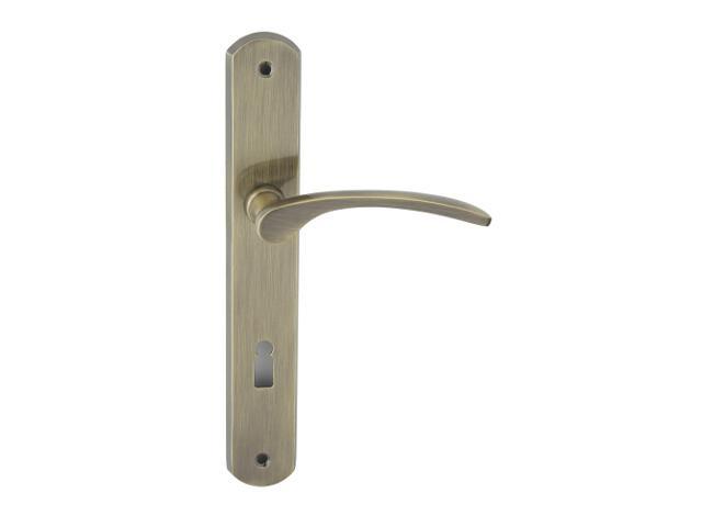 Klamka drzwiowa EMMA szyld długi klucz brąz grafiatto Domino