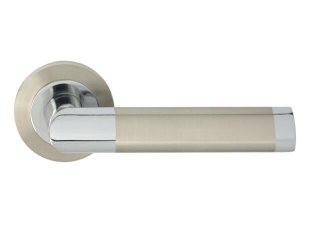 Klamka drzwiowa JARO-R szyld dzielony okrągły chrom/nikiel Domino