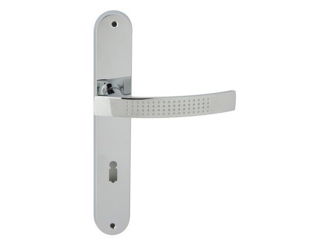 Klamka drzwiowa ALMA szyld długi klucz chrom lakierowany Domino