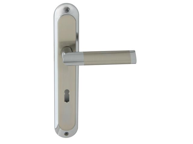 Klamka drzwiowa JARO szyld długi klucz chrom/nikiel Domino