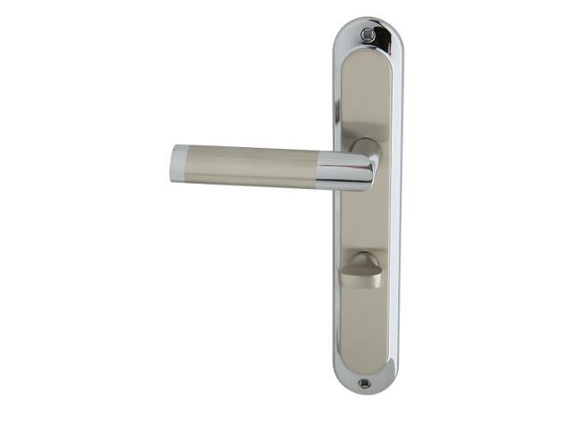 Klamka drzwiowa JARO szyld długi WC chrom/nikiel lewa Domino