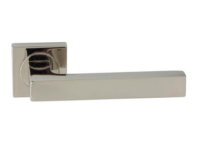 Klamka drzwiowa ELECTRA-QR-569 szyld dzielony kwadratowy chrom perłowy ROSSETTI