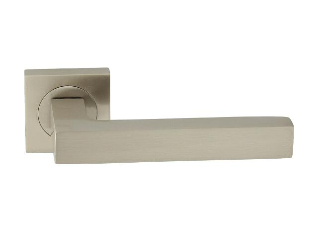 Klamka drzwiowa ELECTRA-QR-569 szyld kwadratowy nikiel lakierowany ROSSETTI