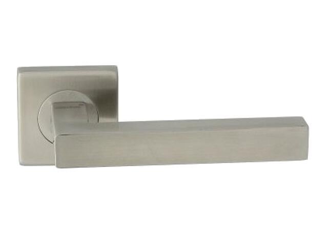 Klamka drzwiowa LUKA-QR EF szyld dzielony kwadratowy stal nierdzewna Domino