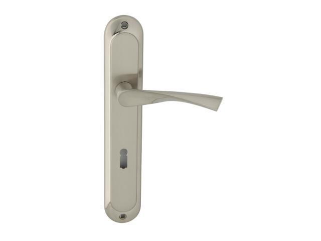 Klamka drzwiowa GIUSSY szyld długi klucz chrom/nikiel Domino