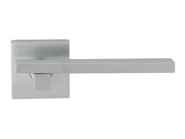 Klamka drzwiowa MARY-QR szyld dzielony kwadratowy chrom satyna ROSSETTI