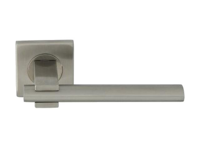 Klamka drzwiowa ALEKSANDRA-QR INX szyld dzielony kwadratowy stal nierdzewna Domino