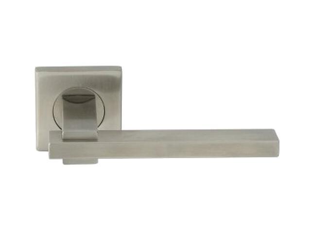Klamka drzwiowa HELIOS-QR EF szyld dzielony kwadratowy stal nierdzewna Domino